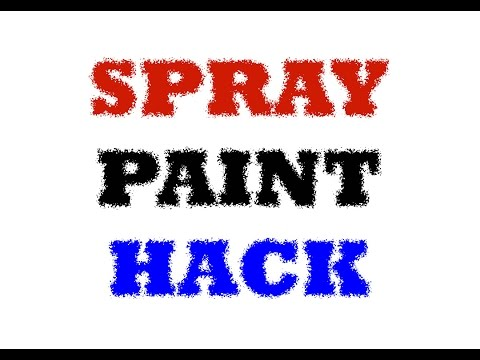 Tip for Applying Spray Paint in Hard to Reach Places