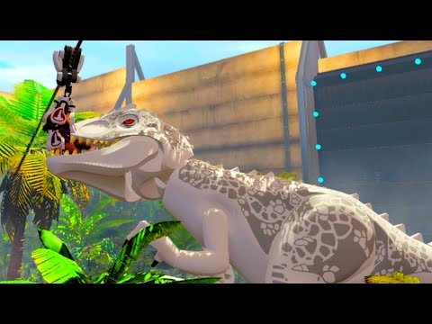 LEGO Jurassic World Owen Enters The Indominus Rex Cage