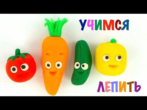 Видеоурок овощи из пластилина