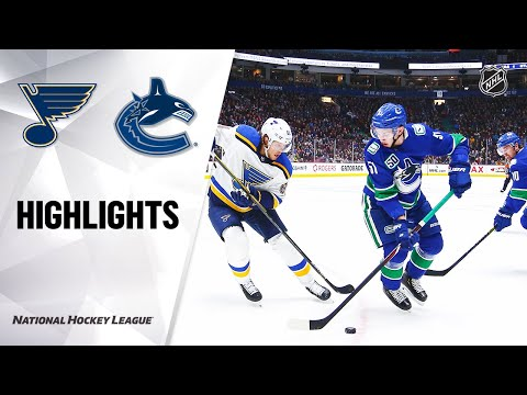NHL Highlights | Blues @ Canucks 1/27/20