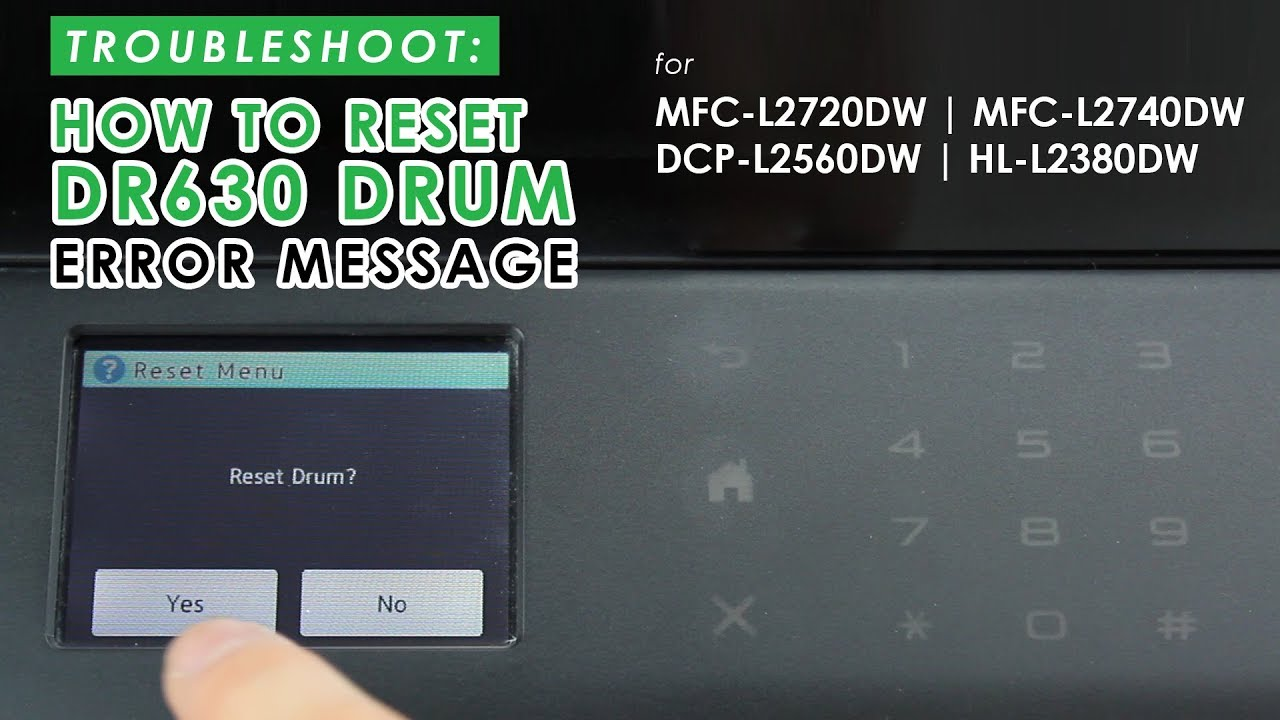 Reset Drum Brother Mfc-l2740dw