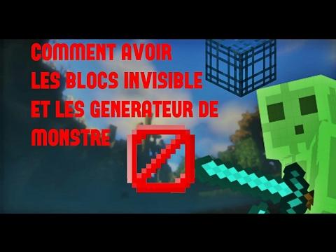 minecraft comment avoir les blocs invisibles et les. Black Bedroom Furniture Sets. Home Design Ideas