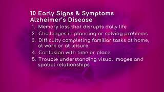 Dr. andrew forster, internal medicine physician with baptist health primary care, talks about the ten early signs and symptoms of alzheimer's disease. he aff...