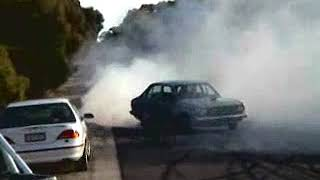 V8 Corolla Burnout - Lynchy before he was famous