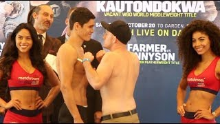 STEADY ON LAD! - OPPONENT LOOKS LIKE HE IS READY TO GO NOW WITH DANIYAR YELEUSSINOV IN BOSTON