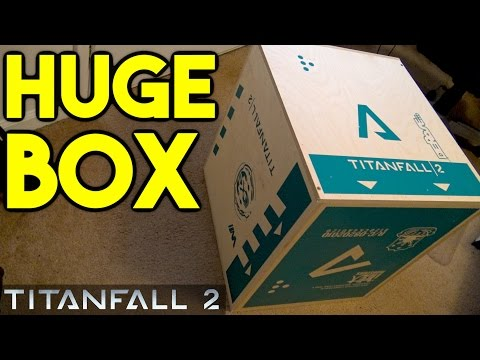 Titanfall 2 Care Package Unboxing! MASSIVE WOODEN CRATE! (Titanfall 2 Unboxing - Review)