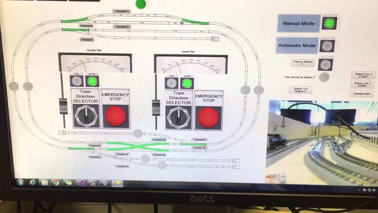 Train station control demo using PLC & M2I & advancedHMI