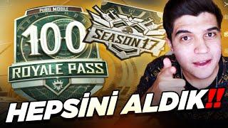 S17 GELDİ 😯 ROYALE PASS 100'LEDİK!!   PUBG Mobile 17. Sezon Royale Pass