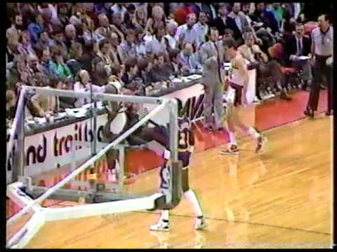 Lakers @ Blazers, 1987 (1 of 2) [SET VID TO 480p for HQ]
