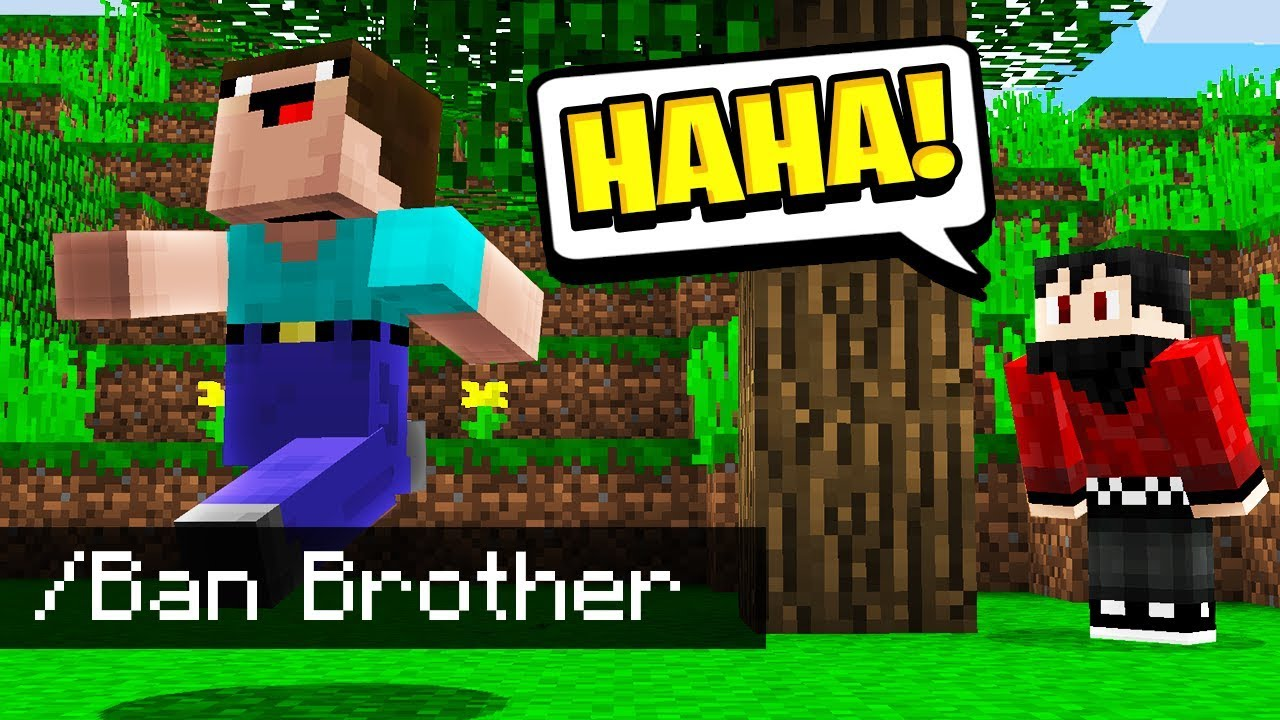 I BANNED My Little Brother in Minecraft Pocket Edition.. - REALMS EP19