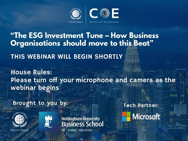 GCMY x NUBS Webinar - The ESG Investment Tune – How Business Organisations should move to this Beat