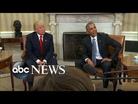 Trump Makes 1st  Visit to White House as President-Elect