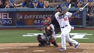 Download Puig takes pitch, launches homer, gets heated