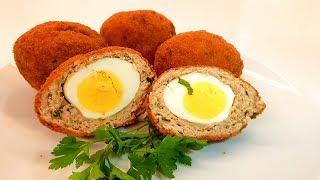 Очень Вкусная Котлета с яйцом внутри / Пошаговый Рецепт