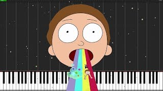 Goodbye Moonmen - Rick and Morty [Piano Tutorial] (Synthesia) // Mr.Meeseeks Piano