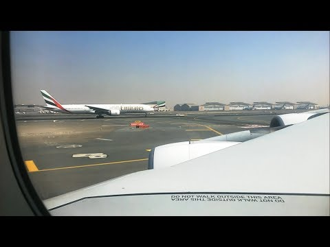 Emirates A380 SILENT TAKE OFF - Emirates - Dubai to Auckland