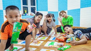 Kids Go To School   Chuns And Best Friend Unique Painting Contest In The Classroom