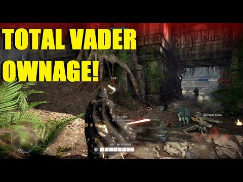 Star Wars Battlefront 2 - Total Darth Vader ownage! | Youtube please let me post this vid!