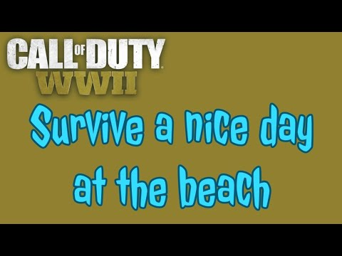 DEATHRAVEN HUNTER-SURVIVE A NICE DAY AT THE BEACH-HIDDEN CHALLENGE,CALL OF DUTY WW2 ZOMBIES