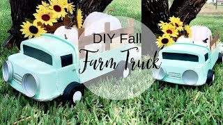 DIY Dollar Tree Fall Farm Truck | Build A Truck From Scratch| Rustic Fall Home Decor