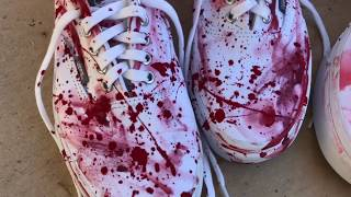 GuzDesigns - How to Paint &quotBLOODY SHOES&quot Quality compare and contrast!