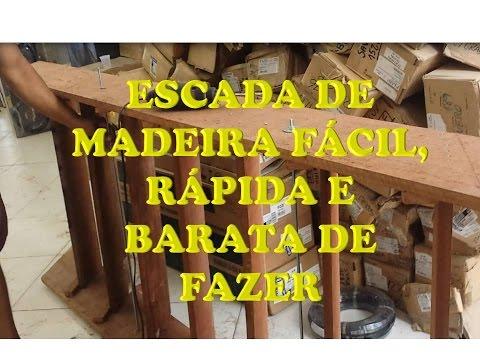 Escada De Madeira Barata Fácil E Rápida De Fazer Youtube