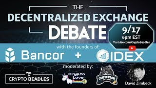 DEX Debate - Will Decentralized Exchanges Cause Largest Economic Boom in History???