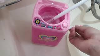 다이소 장난감 세탁기로 브러쉬 씻기