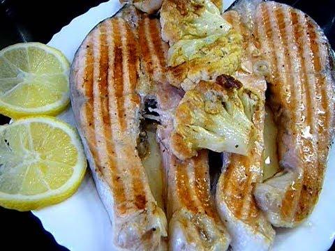 Нежнейшая Семга На Гриле Как приготовить рыбу гриль/Электрогриль Редмонд рецепты