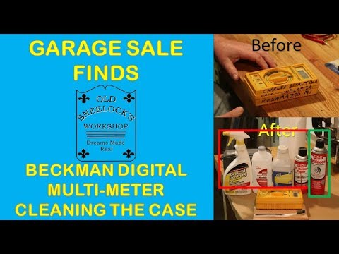 BECKMAN DIGITAL MULTIMETER ~ CLEANING THE CASE AND REMOVING PERMANENT MARKER