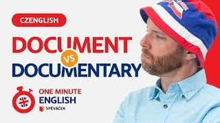 ONE MINUTE ENGLISH! Document vs Documentary (EPISODE 8)