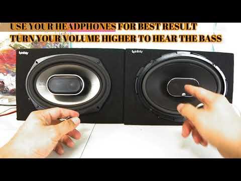 Infinity Kappa 693 6x9 VS Polk Audio MM 6x9 BURNED SPEAKER!!  Bass test full review