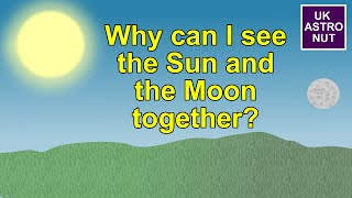 Why can I see the Sun and the Moon together?