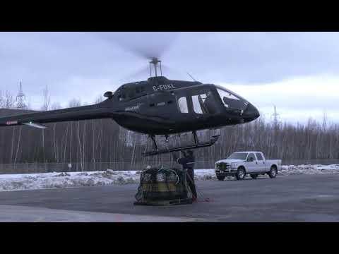 Bell 505  Utility Cargo Hook Demonstration