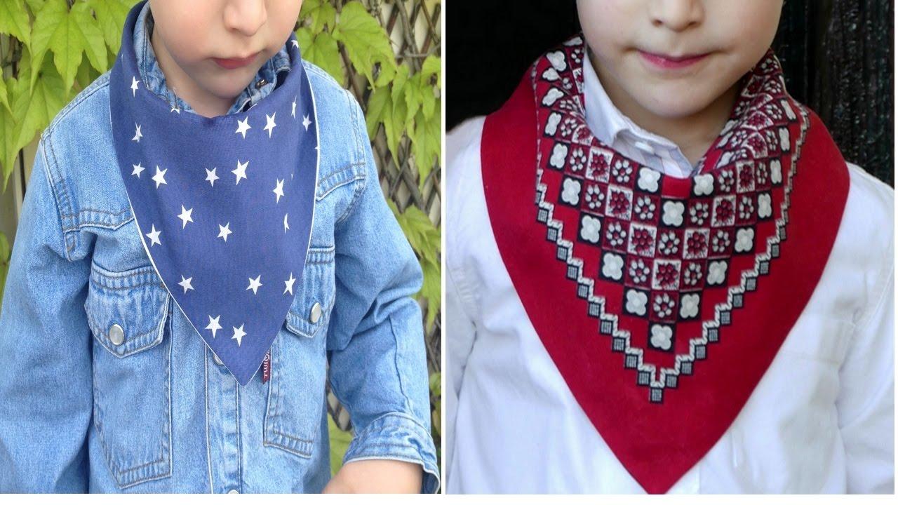 Tutorial para hacer un pañuelo infantil con patrón PDF - YouTube