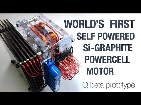 WORLD'S FIRST - SELF POWERED Q Beta Prototype with Silicon Crystal Graphite Powercells