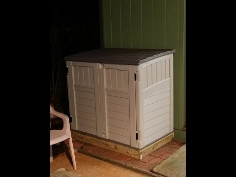 Lowe's - Suncast model BMS2500 storage shed assembly pointers.