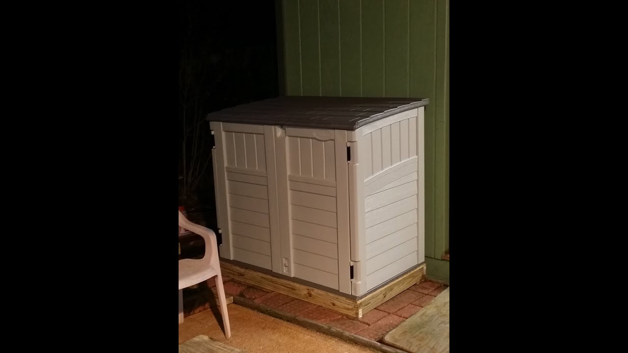 Lowe's - Suncast model BMS2500 storage shed assembly