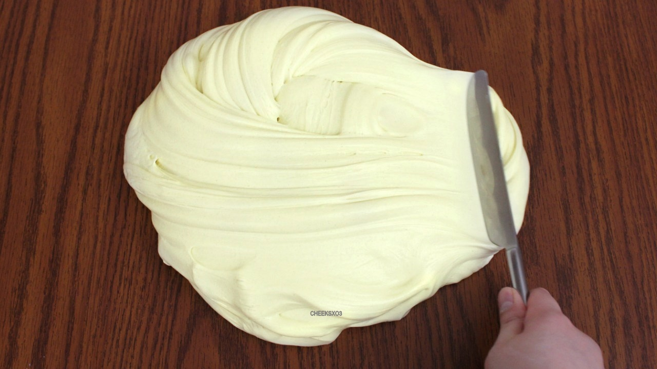 How To Make Butter Slime Diy Soft Stretchy Butter Sli