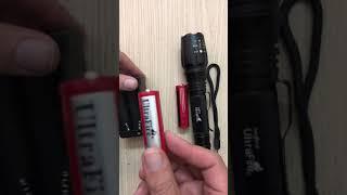 Đèn pin siêu sáng Ultrafire X7 siêu zoom, dùng 2 pin sạc Lithium cao cấp - (mã DP07)