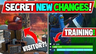 *NEW* Fortnite Update: Training Mode, MODS Coming Soon! TV Chair (Visitor) Map Changes!