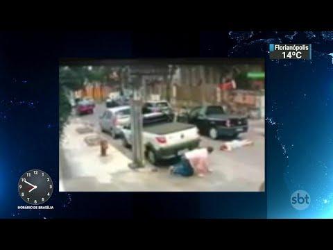 Câmeras de segurança gravam arrastão em rua do Rio de Janeiro   SBT Brasil (10/07/18)