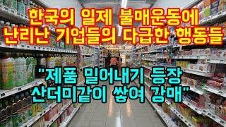 """한국의 일제 불매운동에 난리난 기업들의 다급한 행동들 """"제품 밀어내기 등장, 산더미같이 쌓여 강매"""""""
