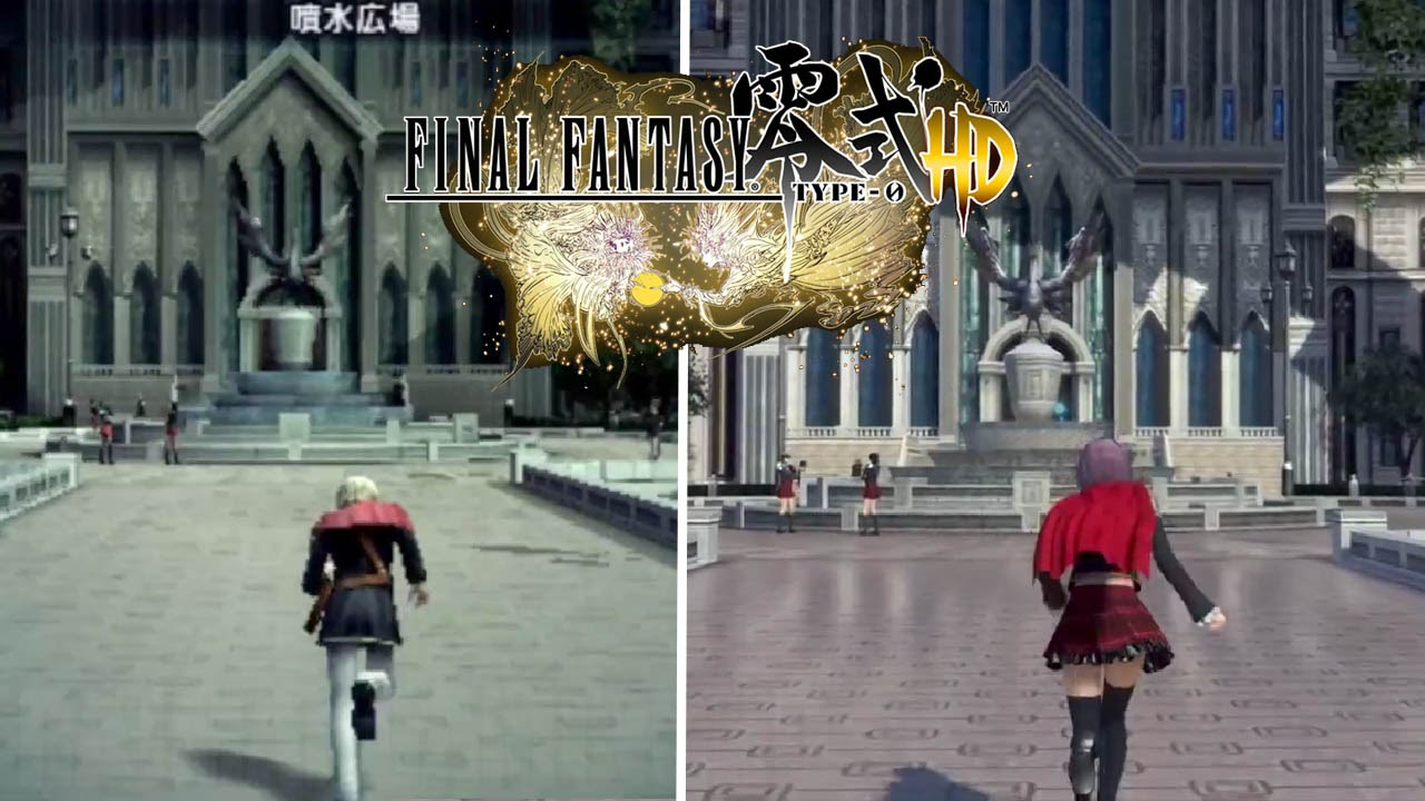 Final fantasy type 0 hd ps4 vs psp comparison video 1080p true hd