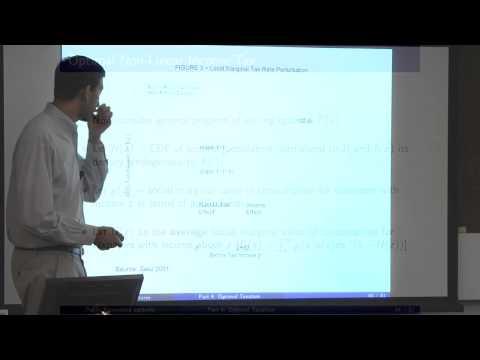 Topic 4: Optimal Taxation Part 2 | Economics 2450A: Public Economics