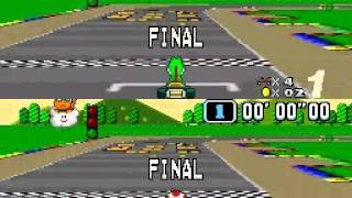 【TAS】SNES Super Mario Kart 150cc All-Cup Stage By Stage Comparison