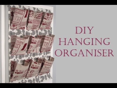 {step By Step Sewing} Diy Fabric Hanging Organiser