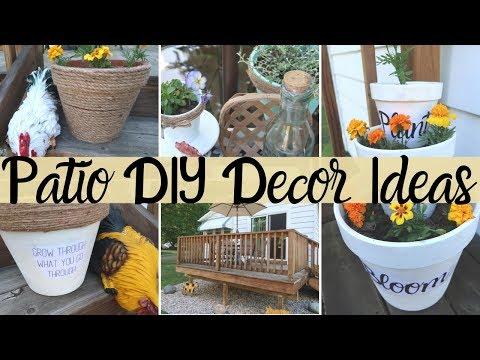 DIY PATIO DECOR IDEAS | FARMHOUSE STYLE | OUTDOOR DECOR | TERRA COTTA POTS| DOLLAR TREE DIYS