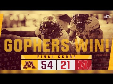 Highlights: Gopher Football Defeats Nebraska 54-21