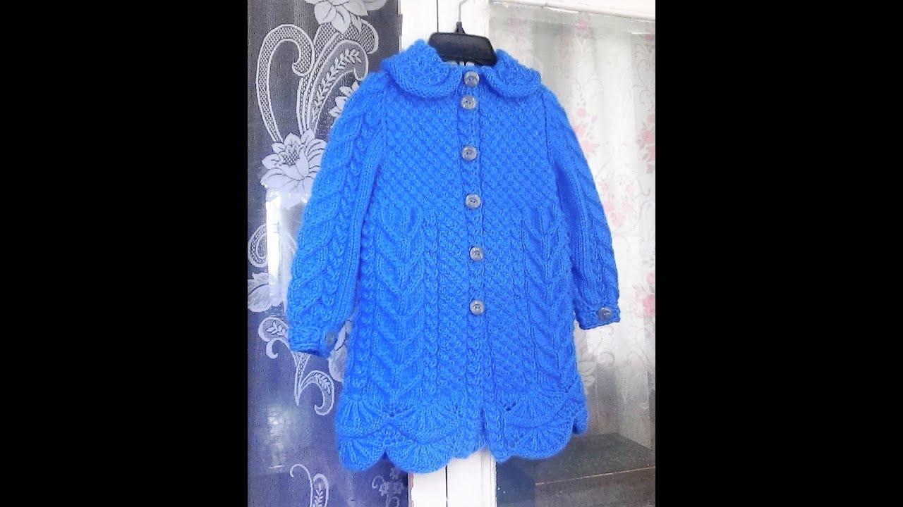 Вязать пальто для девочки 3 лет